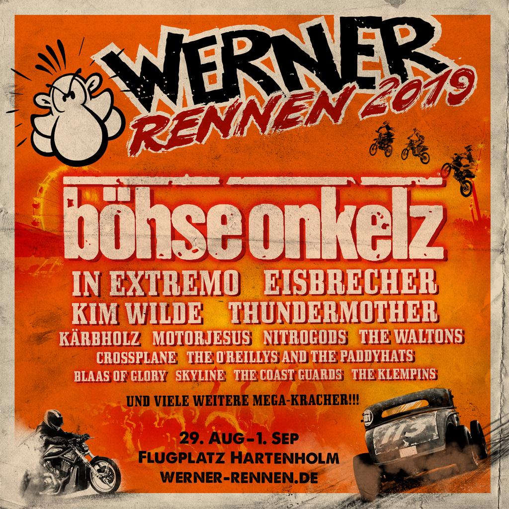 Böhse Onkelz als einer der Headliner auf dem Werner Rennen 2019