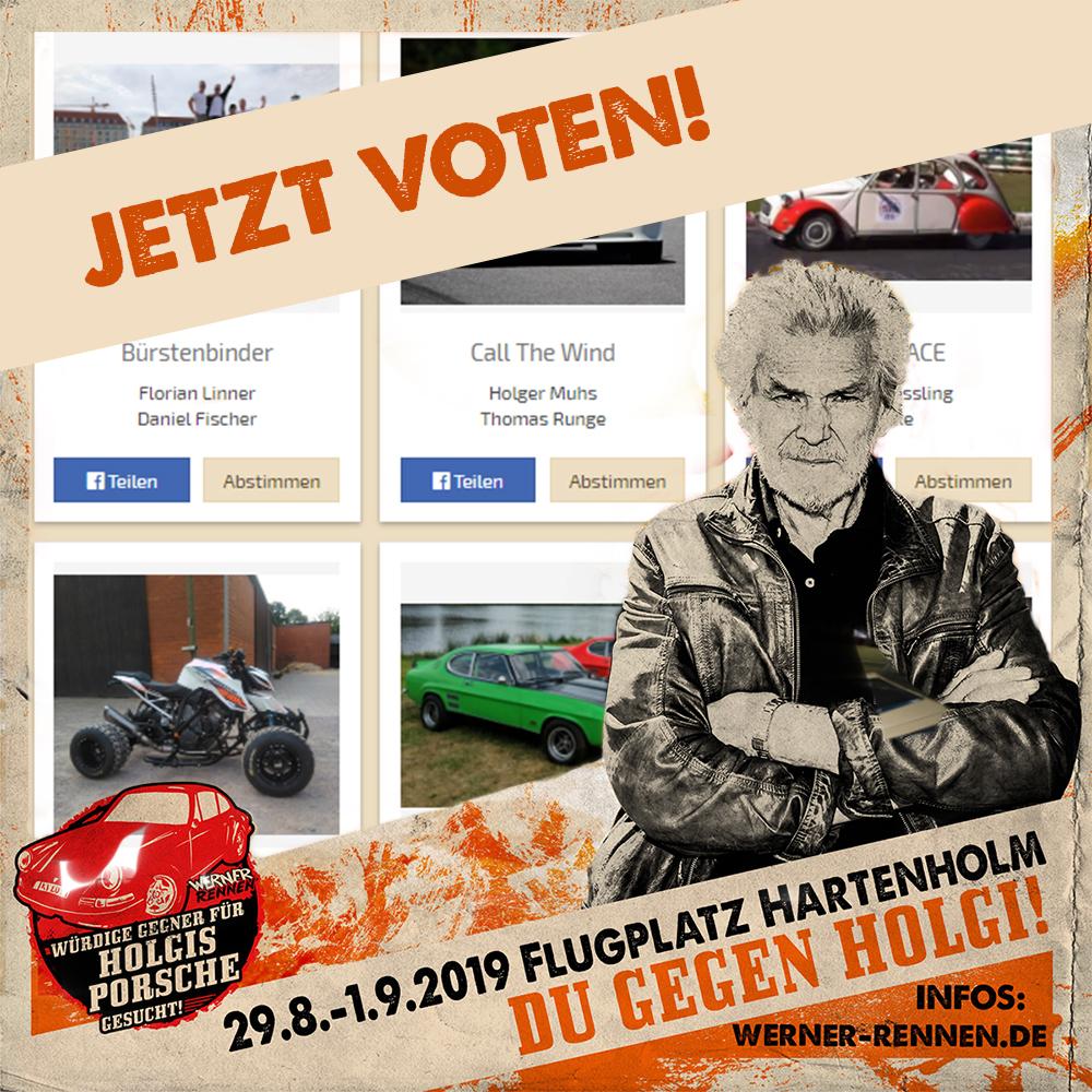 Gegner für Holgi – Voting online!