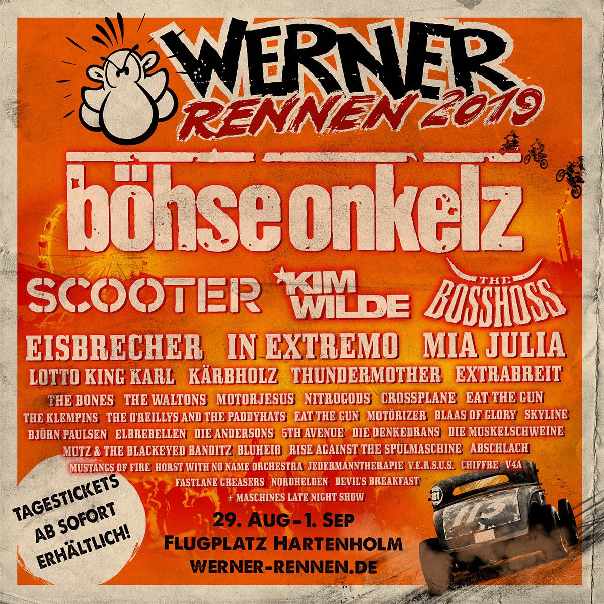 Bandbescheidgabe fürs Werner Rennen 2019